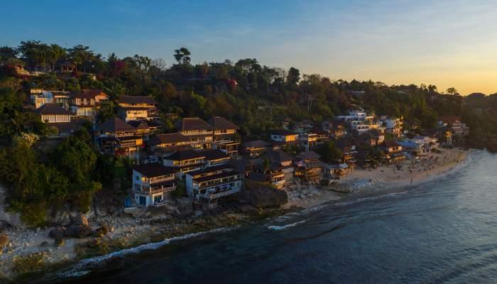Beach in Bali at dusk