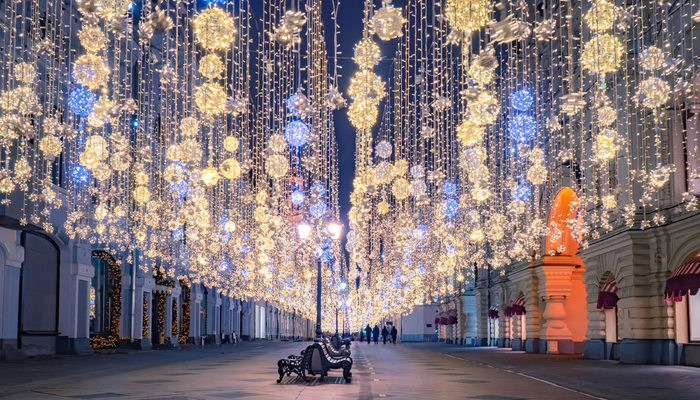 Christmas decorations in Moscow